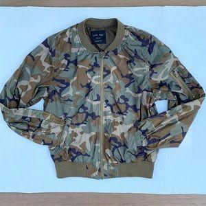 Love Tree Camo Bomber Jacket